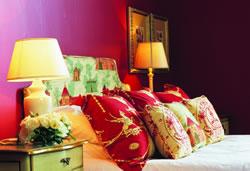 One of the luxury bedrooms